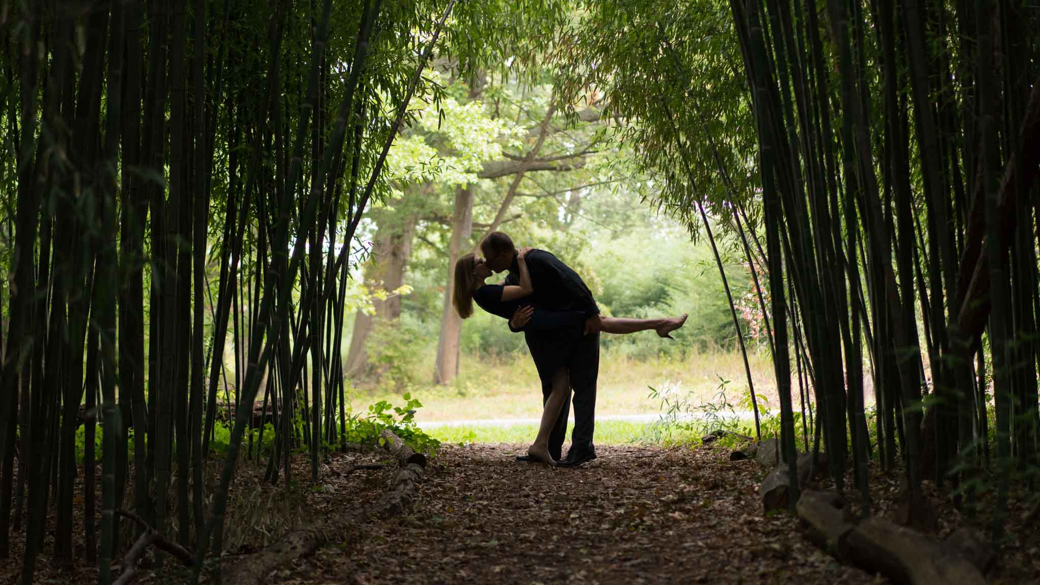 Rutgers Gardens Engagement Shoot Piscataway NJ